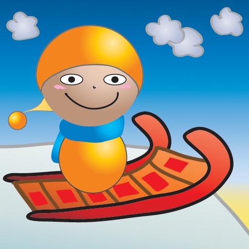 【趣味滑雪】红色小雪橇3D赛