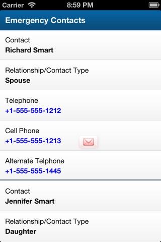 Emergency Contact Data screenshot 3
