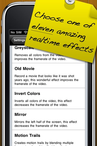 Screenshots of Record Video On iPhone 2G/3G - iCamcorder Lite for iPhone