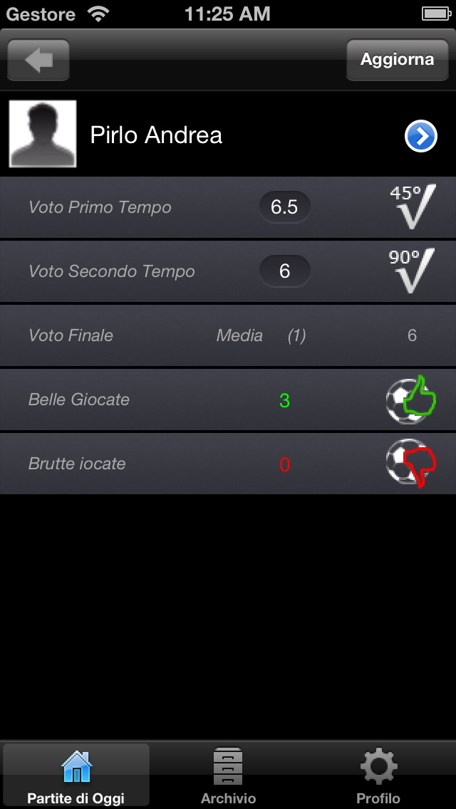Screenshot of MyFootballVote3