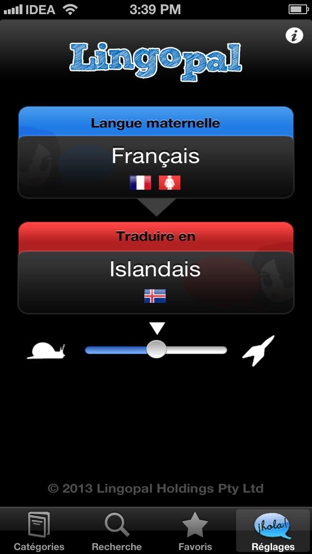 Lingopal Islandais LITE - guide de conversation audioCapture d'écran de 1