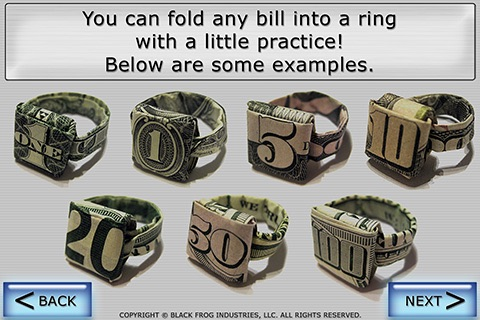 Dollar Ring Origami screenshot 2