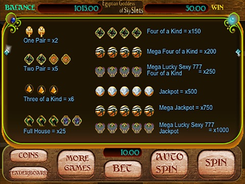 Egyptian Goddess of Sky Slots Free - Arcade Casino Presents a Vegas Style Slot Machine Game For Your Entertainment!-ipad-4
