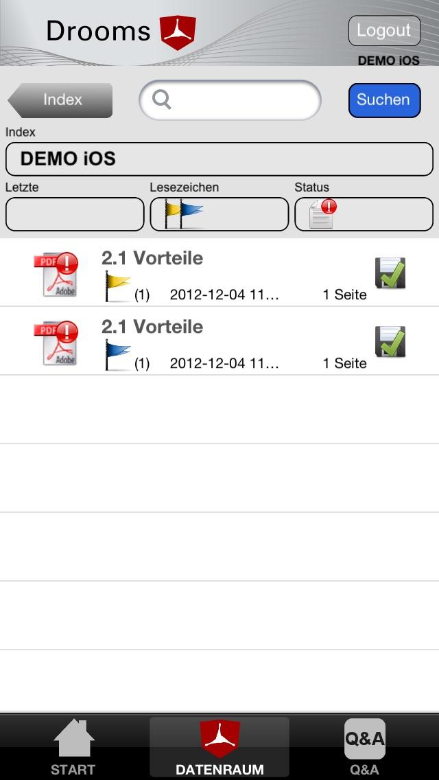 Screenshot von Drooms® für iPad und iPhone5