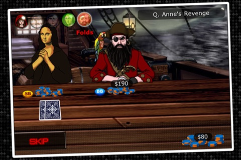 Imagine Poker ~ a Texas Hold'em series against colorful characters from world history! screenshot 3