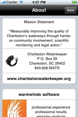 Charleston Waterkeeper screenshot 2