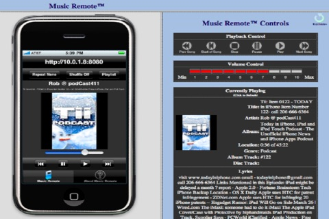 Music Remote™ (Remotely control the iPod player in your iPhone, iPod touch and iPad) screenshot 3