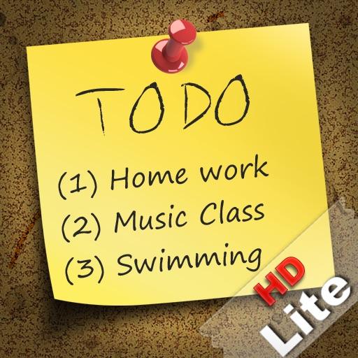 To-Do Smart Notes HD Lite iOS App