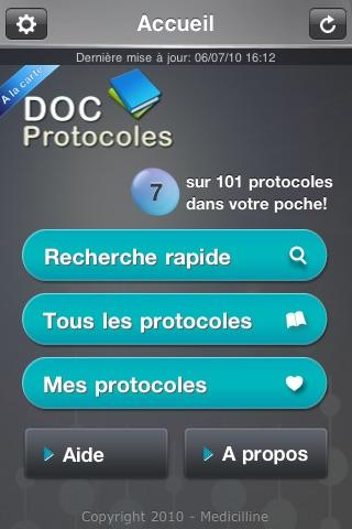Doc Protocoles - A la carte screenshot 1