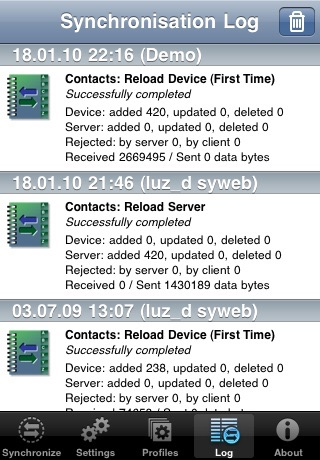 SyncML LITE for iOS screenshot 3