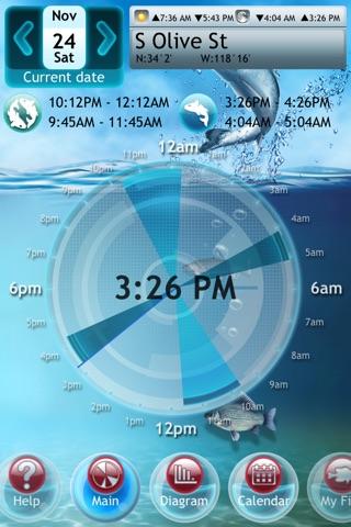 Fishing Deluxe Plus -- Best Fishing Times Calendar screenshot 1