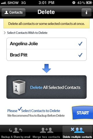 Contacts Backup Management - Contact Manager Screenshot 5