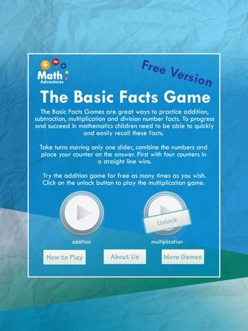 The Basic Facts Game: Free screenshot 2
