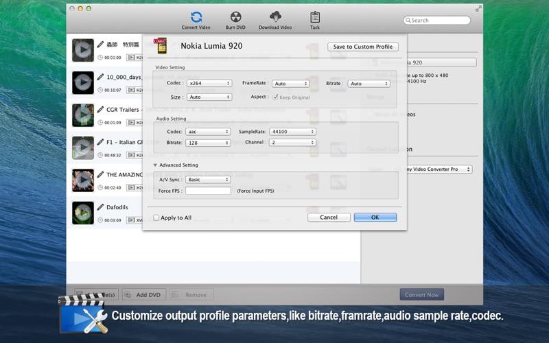 Any Video Converter Pro Screenshots