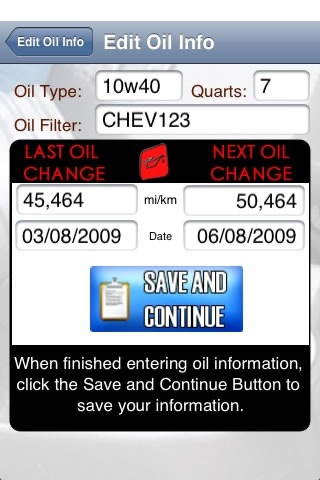 Oil Change - Track any vehicle screenshot 3