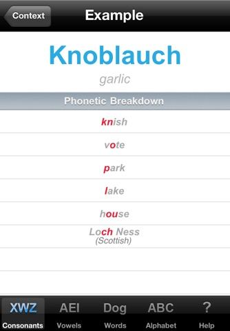 Decoder GERMAN Pronunciation Guide screenshot 4