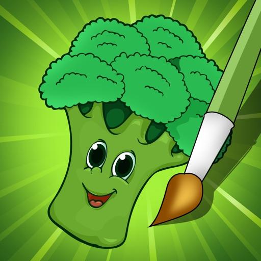 Attivo Libro Da Colorare Di Frutta E Verdura Per I Bambini E