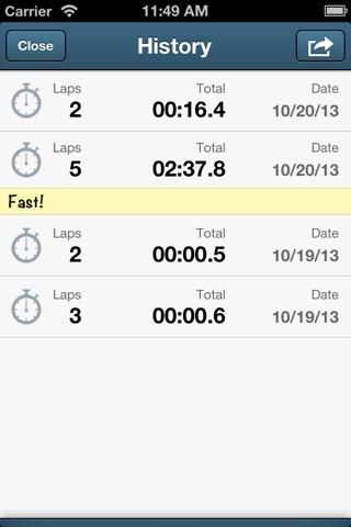 Easy Stopwatch screenshot 3