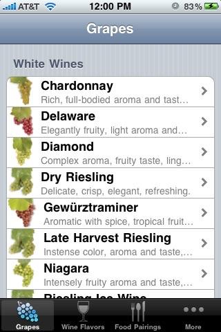 NY Wine & Food Pairings screenshot 1