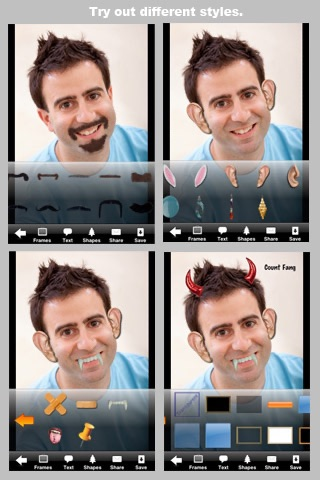 Screenshot #3 for Camera ClickMe Free: Self Portrait using face detection