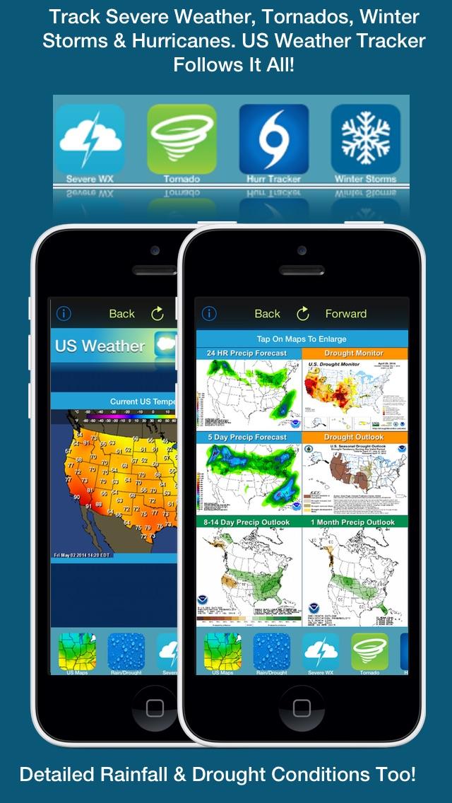 Screenshot #4 for US Weather Tracker Free - Weather Maps, Radar, Severe & Tornado Outlook & NOAA Forecast