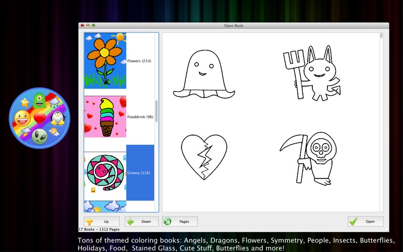 Crazy Coloring Book On The Mac App Store