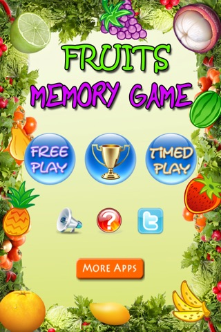 Fruits Memory Game screenshot 1