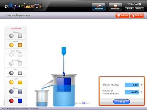 archimedes principle for kids. ipad screenshot 4 archimedes principle for kids