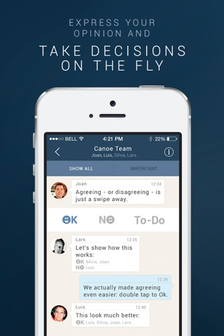 Canoe Messenger - Mobile Messaging for Work screenshot 4
