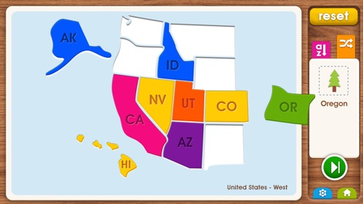 Kids Maps US Map Puzzle Game on the App Store