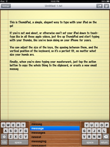 ThumbPad screenshot 3