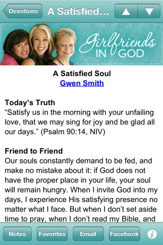Girlfriends in God Devotional screenshot 1