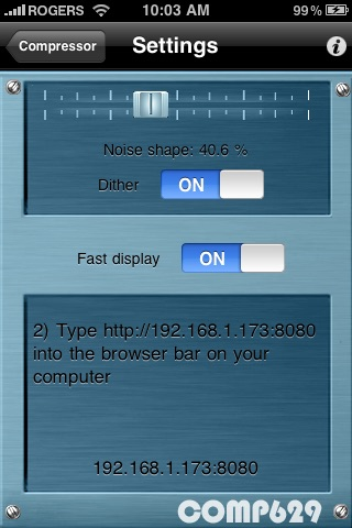 Compressor screenshot 2