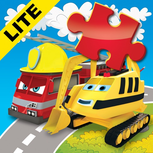 Happy Bernard's puzzles for kids. Urban vehicles and building machines. Lite iOS App