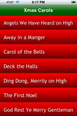 Xmas Carols Lite screenshot 1