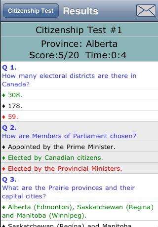 Canadian Citizenship Test screenshot 4