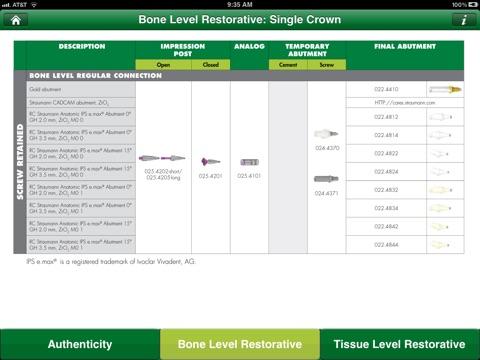 Straumann Restorative Flipchart screenshot 2