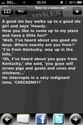 Screenshots of Sex Jokes Free for iPhone