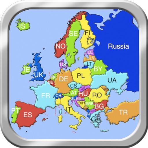 ヨーロッパのパズルマップ