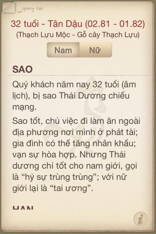 Vận hạn Nhâm Thìn 2012 screenshot 3