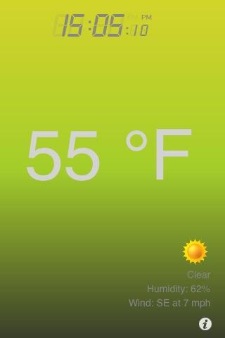 Воздух термометр + превращает Ваш телефон в термометреСкриншоты 3