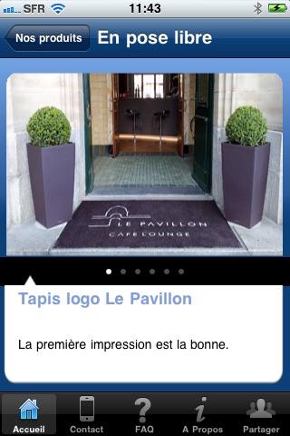 Tapis logo personnaliséCapture d'écran de 2