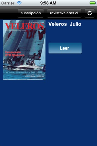 Revista Veleros Chile screenshot 1