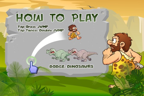 A Caveman's Dinosaur Escape : Run to the Rescue screenshot 2