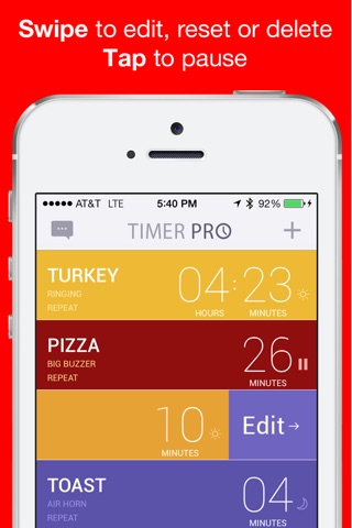 Timer Pro Countdown with Multiple Loud Alarm Timers for Everyday Cooking, Fitness, Timeout screenshot 2
