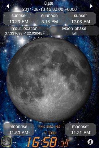 Луна Календарь (Moon Calendar + Sunrise Sunset)Скриншоты 1