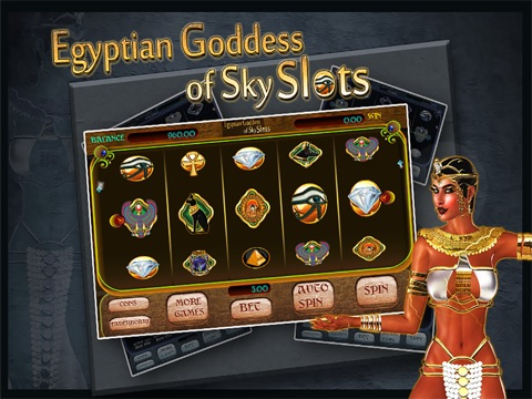 Egyptian Goddess of Sky Slots Free - Arcade Casino Presents a Vegas Style Slot Machine Game For Your Entertainment!-ipad-1