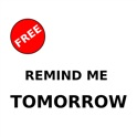 Remind me tomorrow! - Free icon
