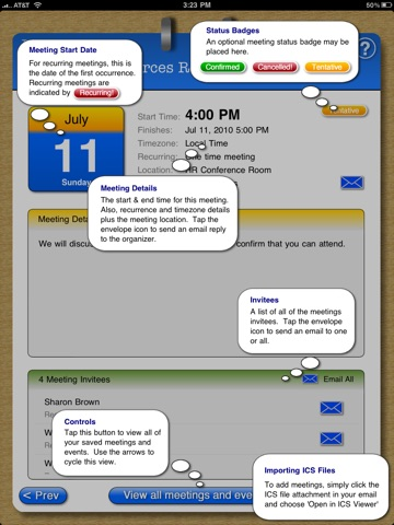 ICS Meeting Viewer screenshot 3