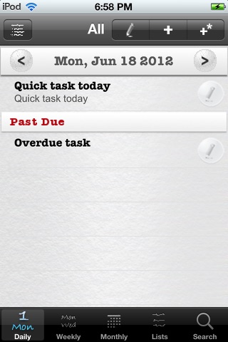 Daily Tasks (To Dos) screenshot 1